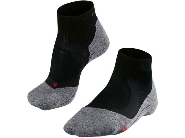 Falke RU4 Cushion Short - Chaussettes course à pied Femme - gris/noir